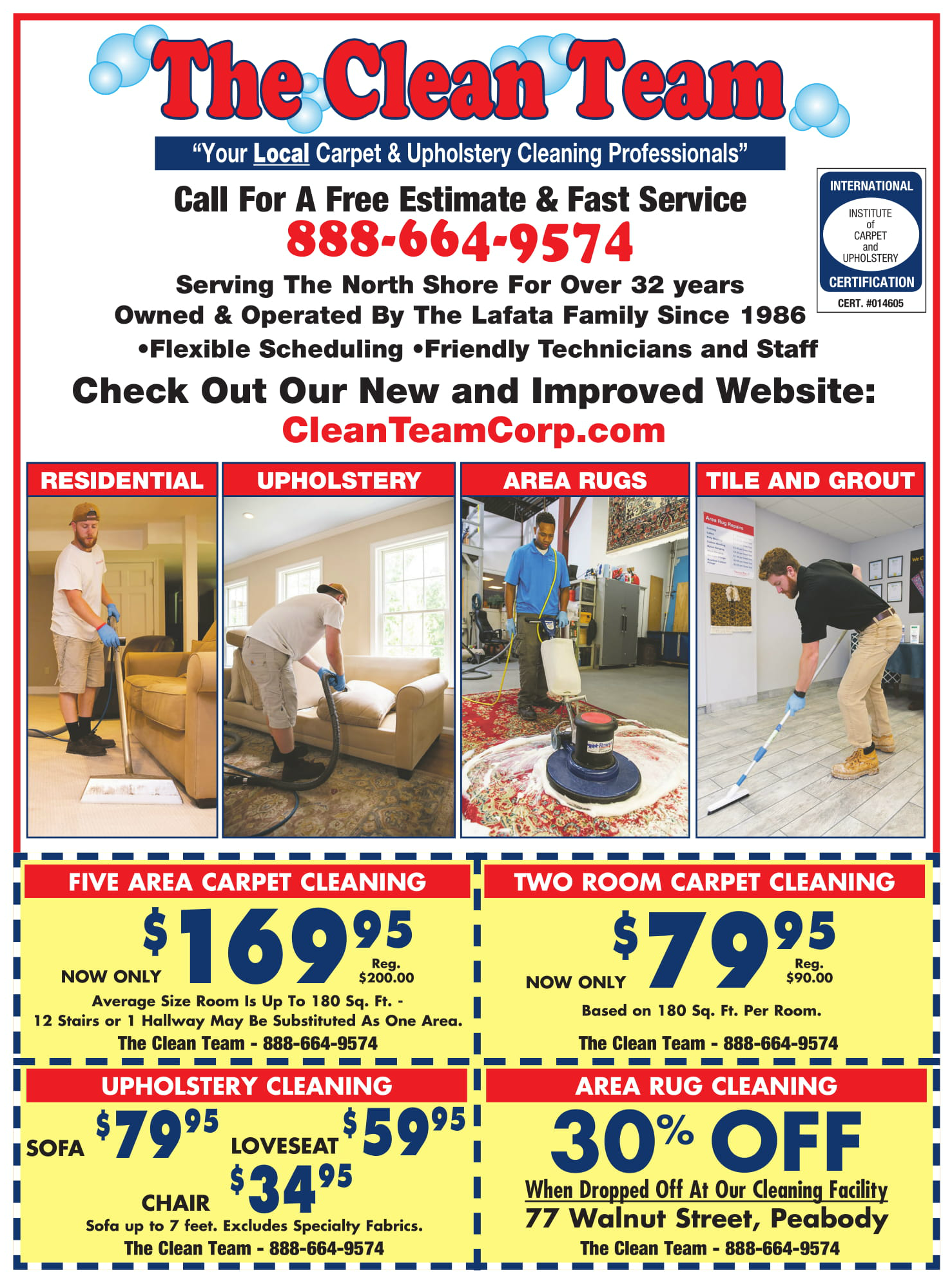 Special Offers - Clean Team